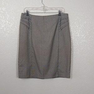 New York & Company Black Houndsthooth Skirt sz 12
